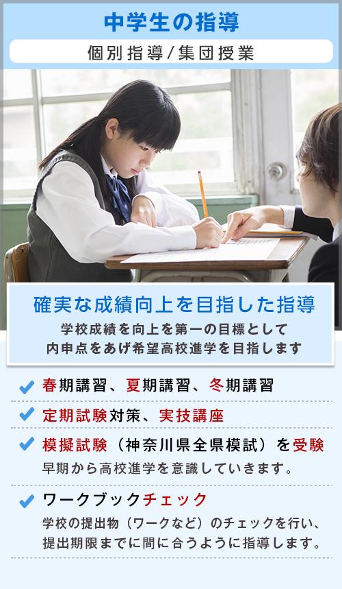 神奈川県二宮にある小学生、中学生、高校生の学習塾|ペンシルゼミナール二宮校|T中学生の指導
